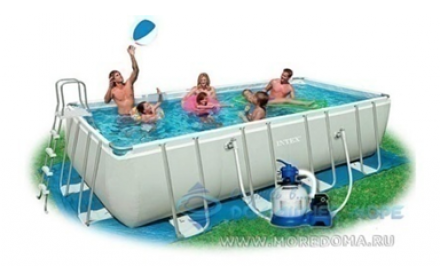 Каркасный бассейн Intex Rectangular Ultra Frame Pool 28352